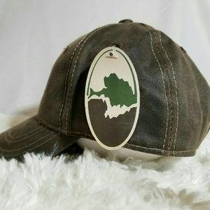 dbb976f1b NWT Mossy Oak Hat Cap Brown Deer Hunting Faux Leat NWT